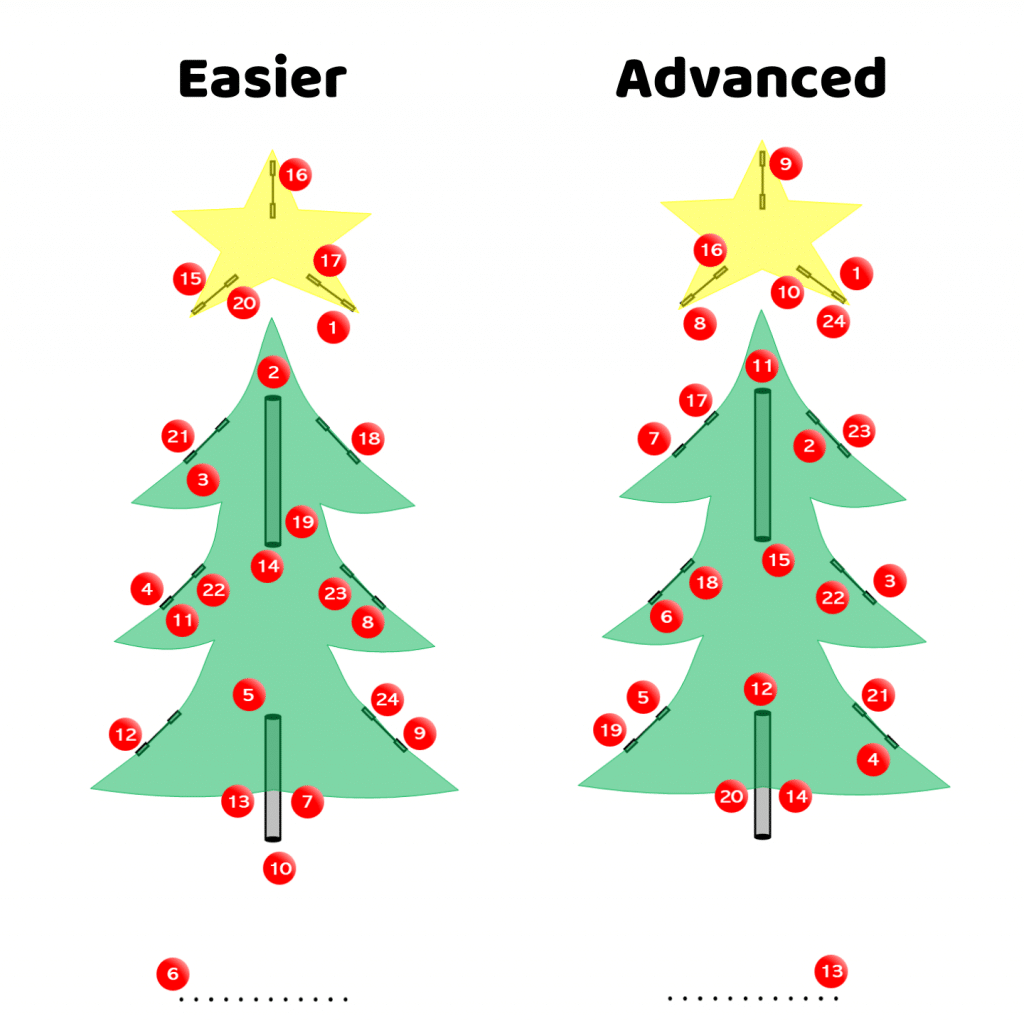 christmas tree agility course